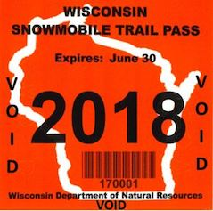 Wisconsin Snowmobile Trail Pass - 2017-2018 season - Wisconsin resident