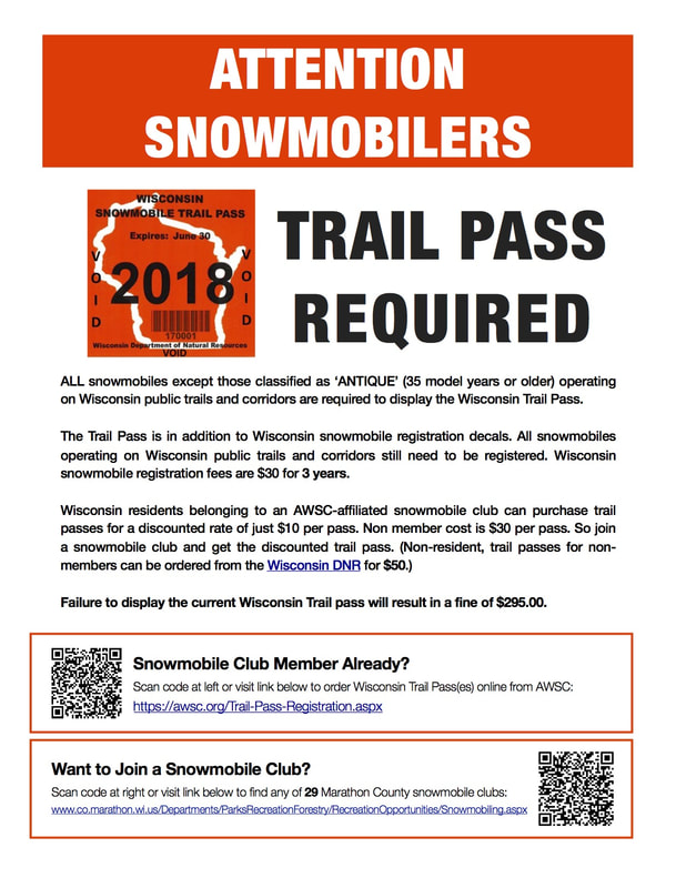 Wisconsin Snowmobile Trail Pass information